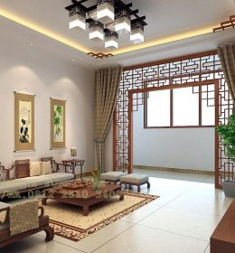 Kusi Tamu Cina Model Sudut Warna Walnut